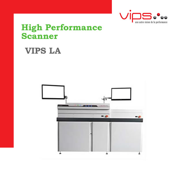 VIPS LA - 350, 600 U 800 documentos por minuto